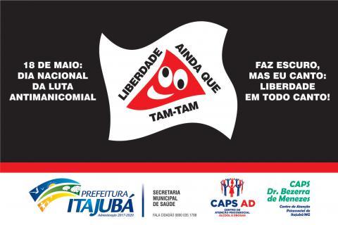 Itajubá adere à Semana Nacional de Luta Antimanicomial