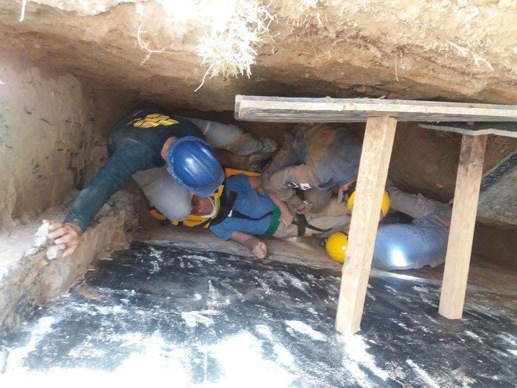 Trabalhador soterrado é socorrido pelo Corpo de Bombeiros de Itajubá